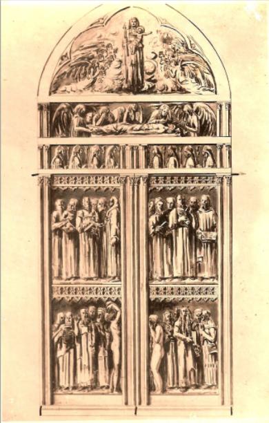 Estudo Porta da Catedral de Curitiba