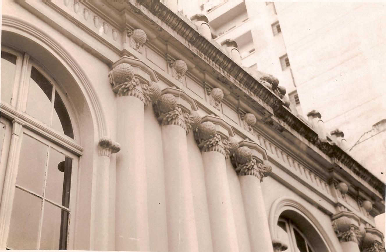 Detalhe da fachada da Casa Paranista