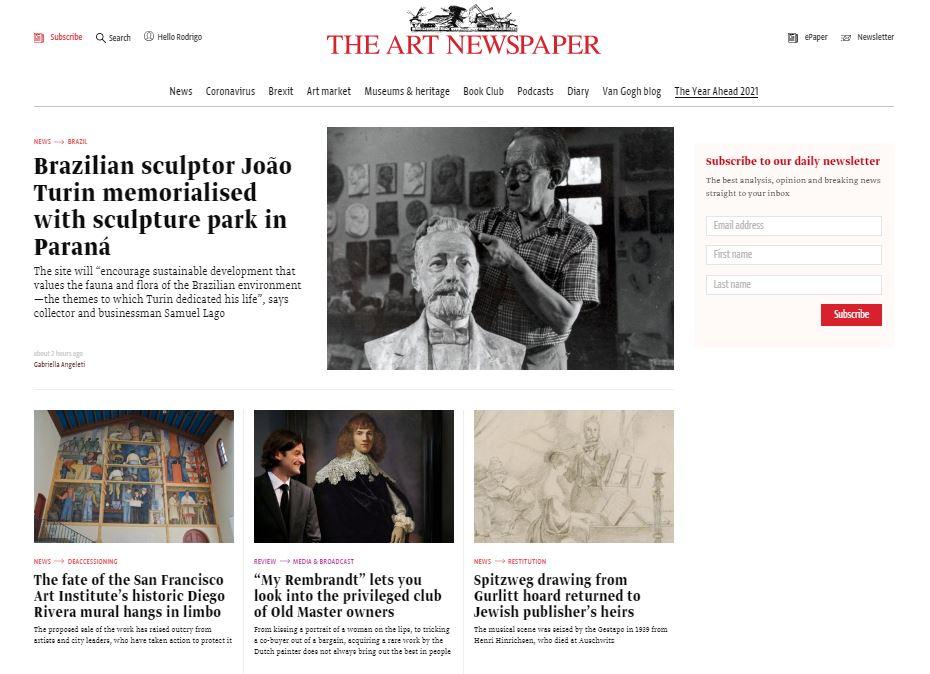 the arte newspaper